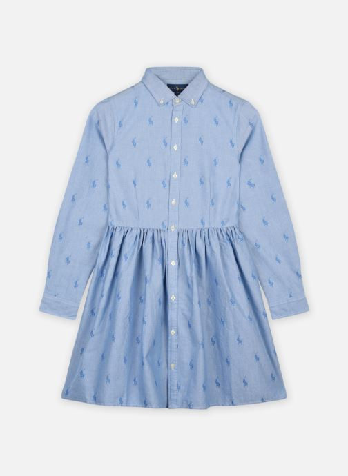 Vêtements Polo Ralph Lauren Cotton Dress-Dresses-Woven Bleu vue détail/paire