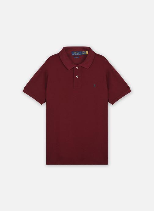 Ropa Polo Ralph Lauren Slim Polo-Tops-Knit SS Vino vista de detalle / par