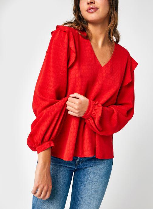 Vêtements La Fée Maraboutée FB-TO-CORFOU-D Rouge vue détail/paire