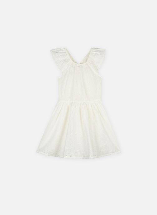 Vêtements Monoprix Kids Robe brodée en coton Blanc vue détail/paire