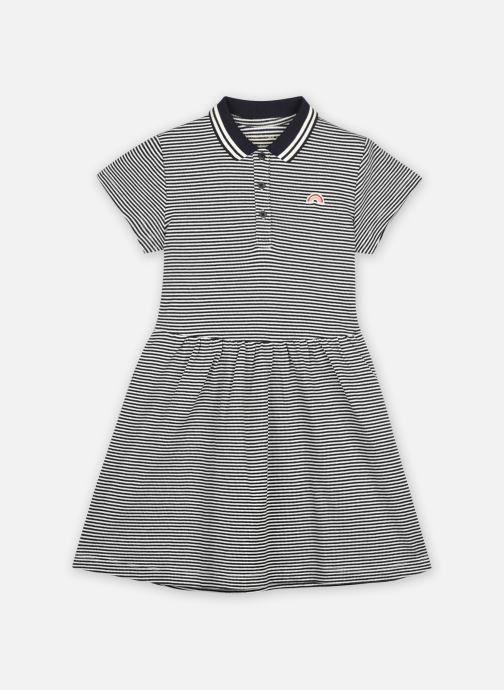 Vêtements Monoprix Kids Robe polo à rayures en coton BIO Bleu vue détail/paire