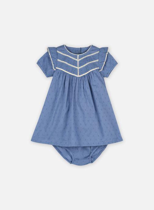 Kleding Bout'Chou Robe en plumetis Blauw detail