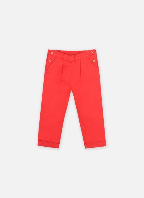 Vêtements Bout'Chou Pantalon en twill doublé OEKOTEX Rouge vue détail/paire