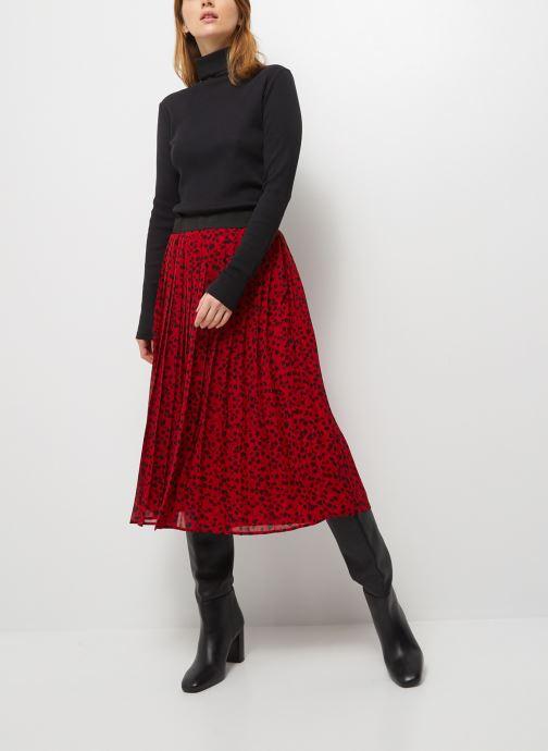 Kleding Monoprix Femme Jupe plissée imprimée Rood detail