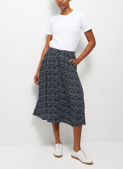 Vêtements Monoprix Femme Jupe midi imprimée en viscose Noir vue détail/paire