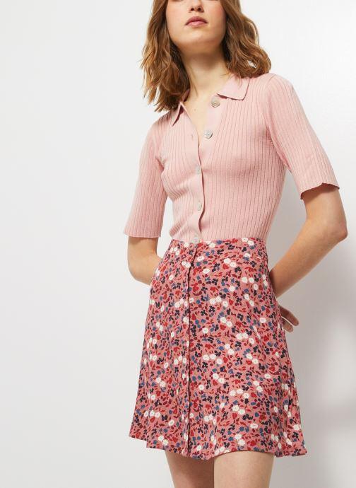 Vêtements Monoprix Femme Jupe courte imprimée Rose vue détail/paire