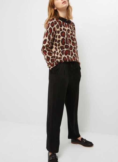 Vêtements Monoprix Femme Pantalon taille élastiquée Noir vue détail/paire