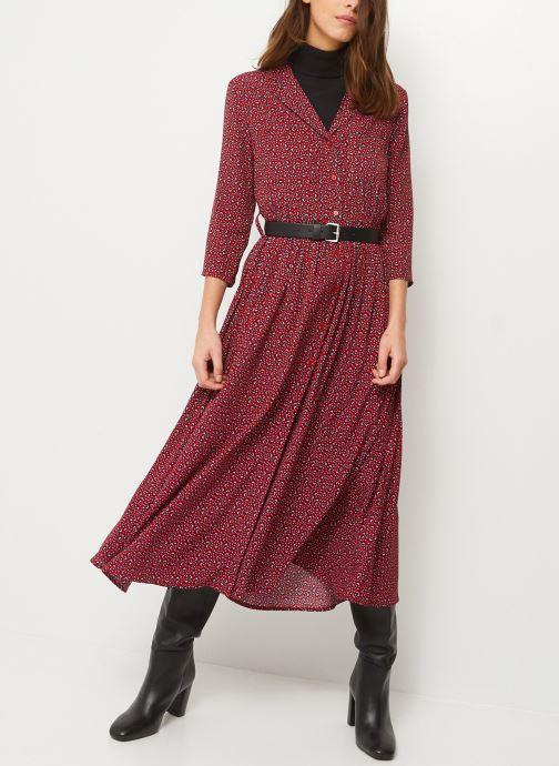 Kleding Monoprix Femme Robe chemise longue imprimée Rood detail