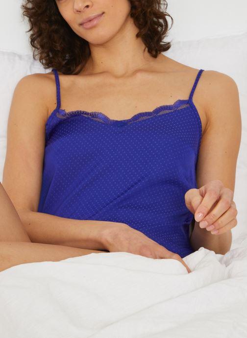 Kleding Monoprix Femme Top en plumetis Blauw detail