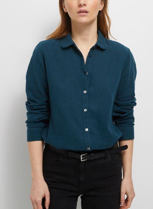 Kleding Monoprix Femme Chemise manches longues en coton BIO unie Blauw detail