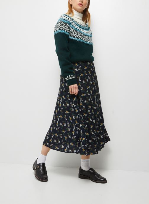 Ropa Monoprix Femme Jupe longue viscose Azul vista de detalle / par