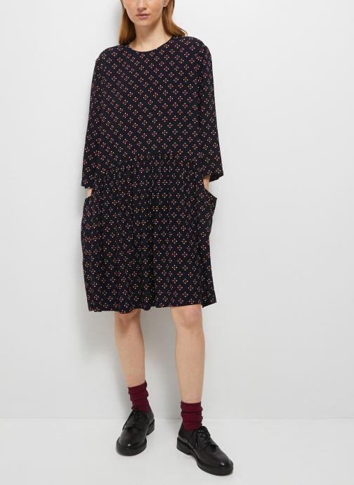 Kleding Monoprix Femme Robe manches 3/4 courte imprimée Blauw detail