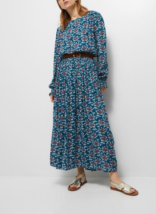 Kleding Monoprix Femme Robe longue taille smockée imprimé floral Blauw detail