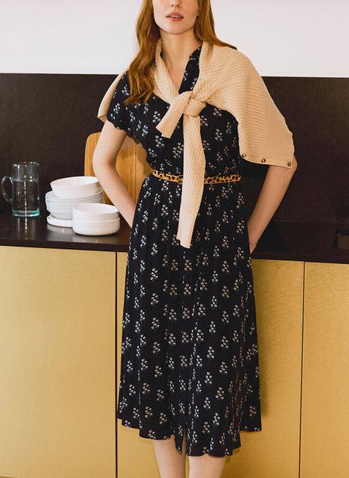Kleding Monoprix Femme Robe chemise manches courtes imprimé floral Blauw detail