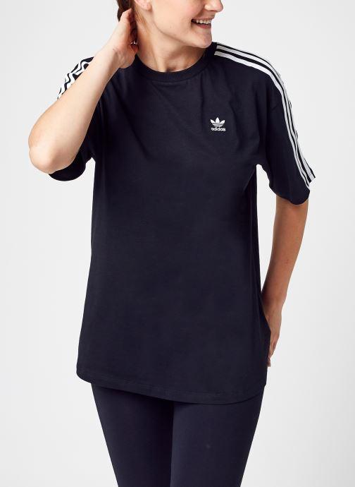 Vêtements adidas originals Oversized Tee Noir vue détail/paire