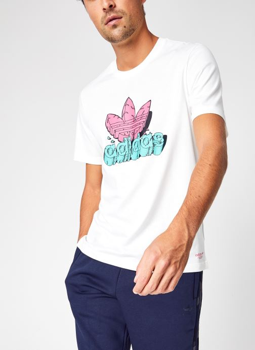Vêtements adidas originals 5 As Tee Blanc vue détail/paire
