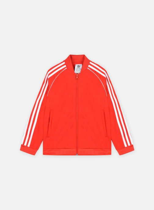 Vêtements adidas originals Sst Track Top Rouge vue détail/paire