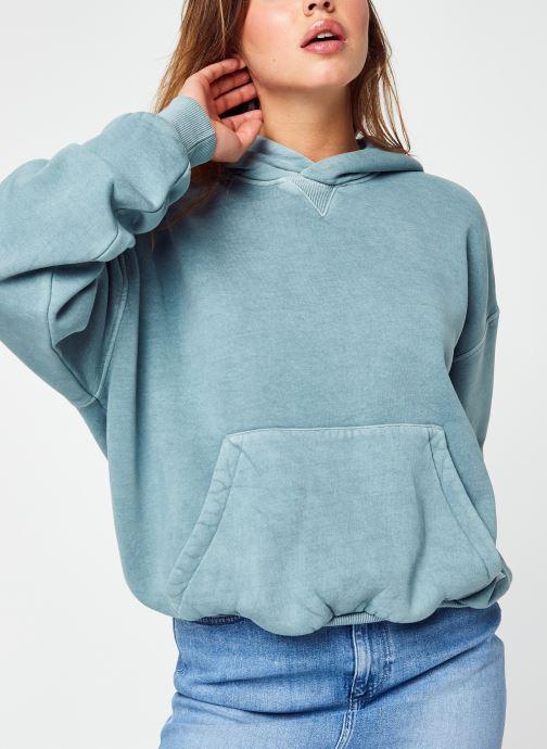 Kleding Reebok Cl Rbk Nd Fleece Hoodie Blauw detail