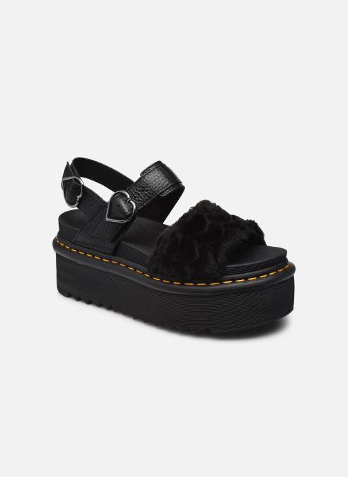Sandales et nu-pieds Dr. Martens Voss Quad Fluffy Noir vue détail/paire