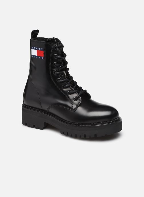 Stiefeletten & Boots Tommy Hilfiger URBAN TOMMY JEANS LACE UP BOOT schwarz detaillierte ansicht/modell