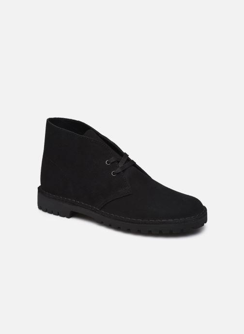 Bottines et boots Clarks Originals Desert Rock Noir vue détail/paire