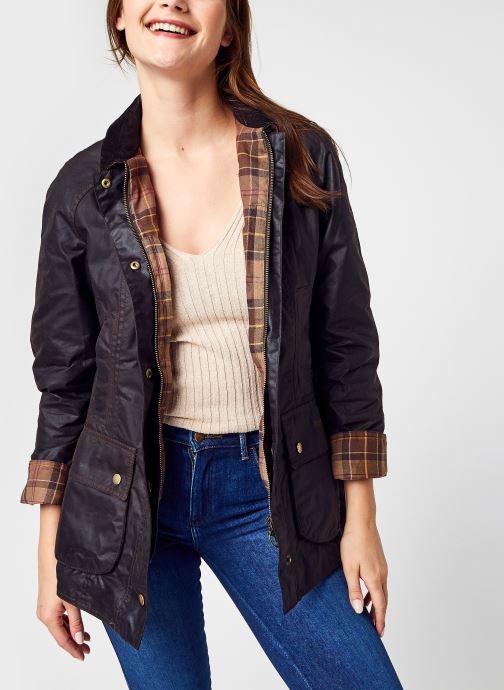 Vêtements Barbour Beadnell Wax Jacket Bleu vue détail/paire