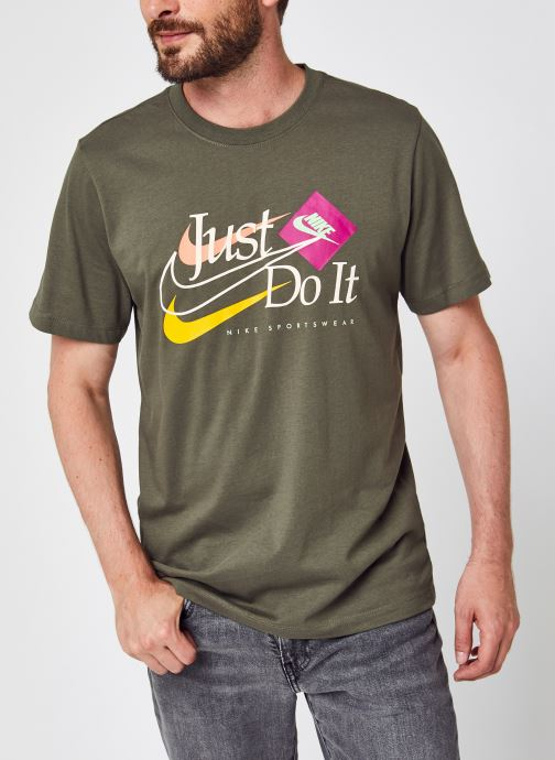 Ropa Nike M Nsw Ss Brand Riffs Jdi Verde vista de detalle / par
