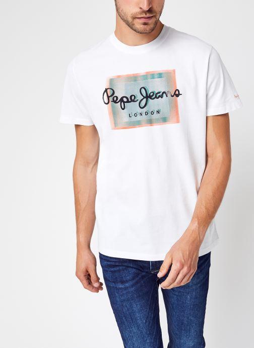 Vêtements Pepe jeans Wesley Blanc vue détail/paire