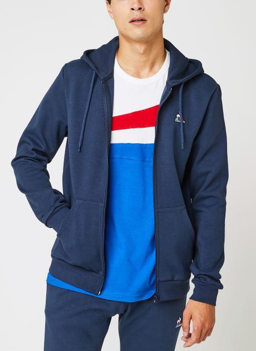 Kleding Le Coq Sportif ESS FZ Hoody N°3 M Dress Blues Blauw detail