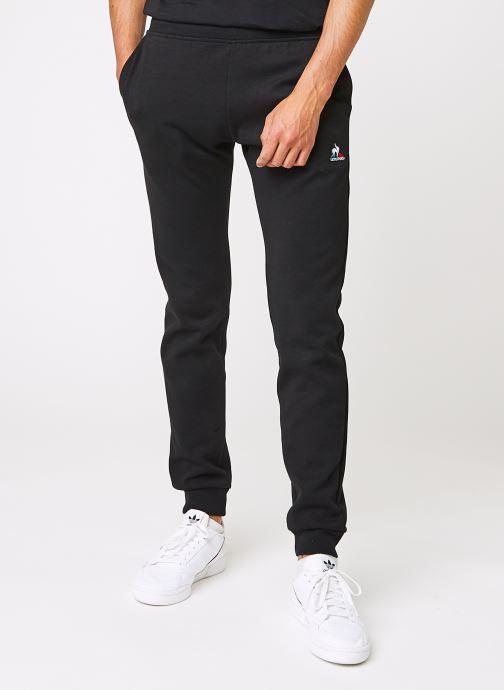 Vêtements Le Coq Sportif ESS Pant Slim N°2 M Black Noir vue détail/paire