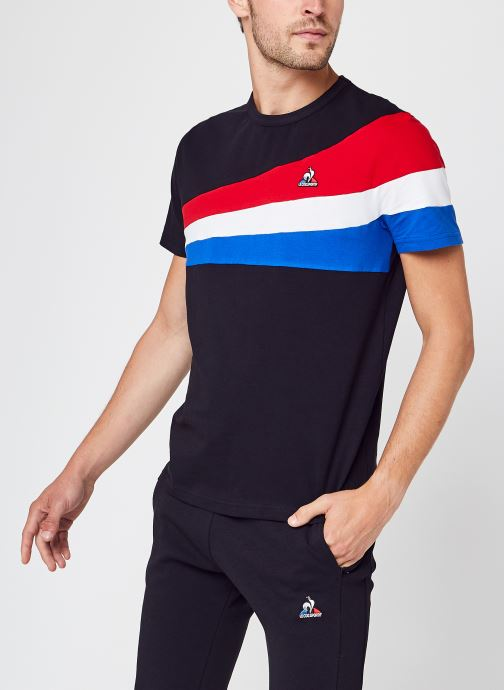 Vêtements Le Coq Sportif TRI Tee Ss N°1 M Black Multicolore vue détail/paire