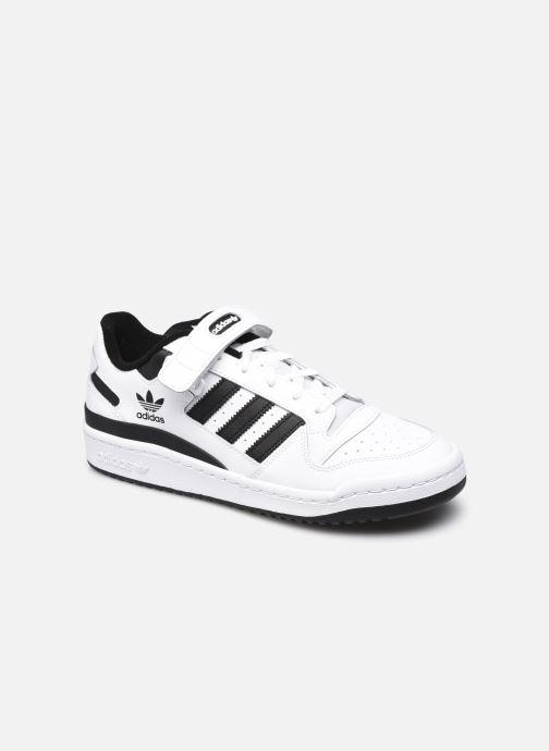 Baskets adidas originals Forum Low Blanc vue détail/paire