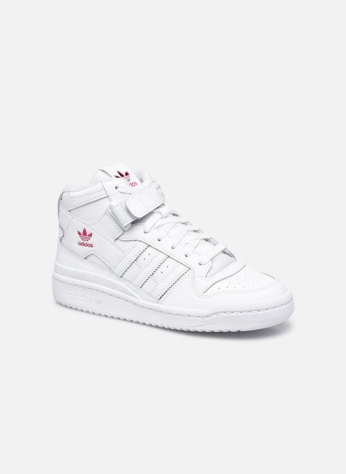 Baskets adidas originals Forum Mid W Blanc vue détail/paire