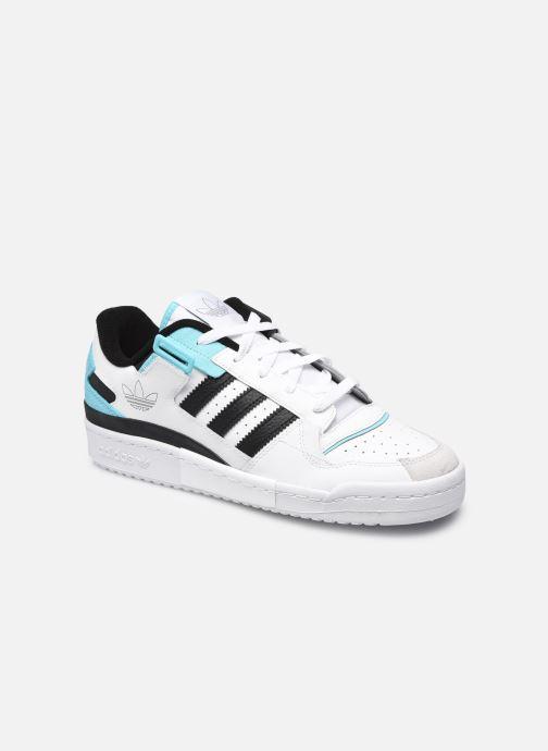 Baskets adidas originals Forum Exhibit Low Blanc vue détail/paire