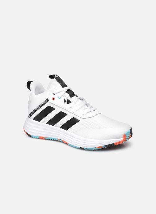 Chaussures de sport adidas performance Ownthegame 2.0 K Blanc vue détail/paire