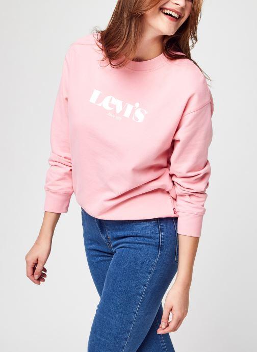 Vêtements Levi's Graphic Standard Rose vue détail/paire