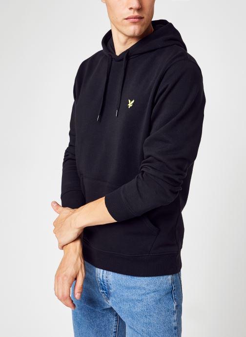 Vêtements Lyle & Scott Pullover Hoodie Noir vue détail/paire