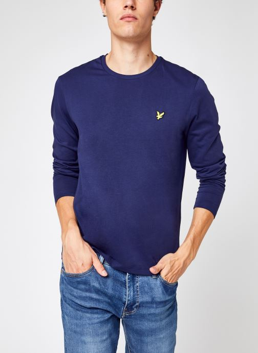 Kleding Lyle & Scott L/S T-shirt Blauw detail