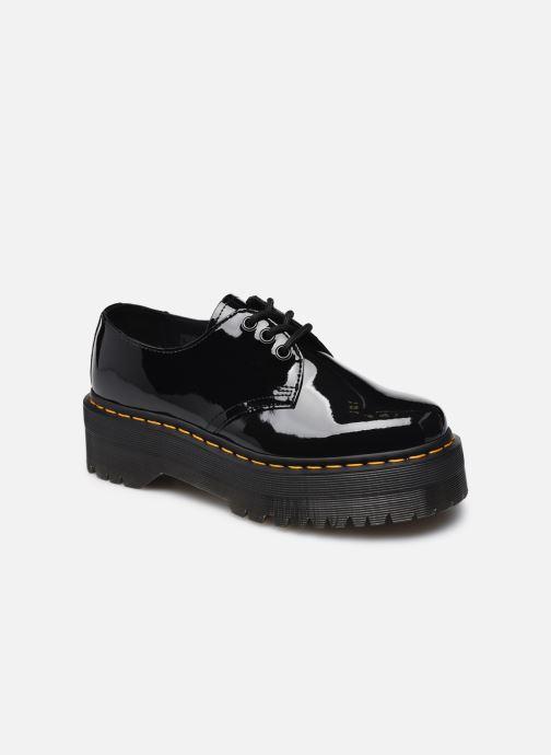 Chaussures à lacets Dr. Martens 1461 QUAD BLACK PATENT LAMPER W Noir vue détail/paire