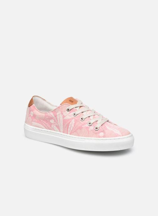 Sneakers Dames Fleur rose lacet