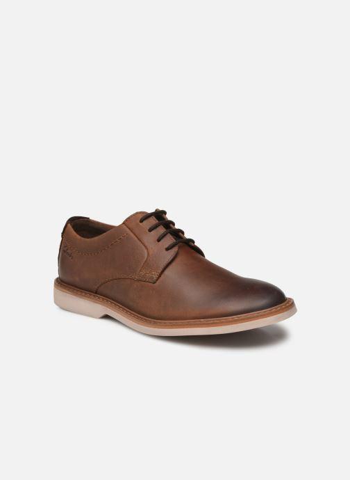 Zapatos con cordones Clarks Atticus LTLace Marrón vista de detalle / par