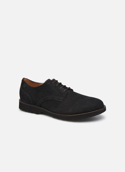 Chaussures à lacets Clarks Fallhill Plain Noir vue détail/paire