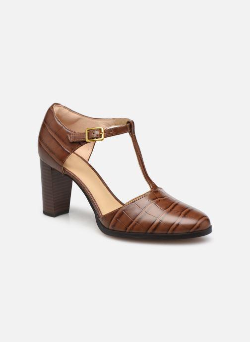 Zapatos de tacón Clarks Kaylin85 TBar2 Marrón vista de detalle / par