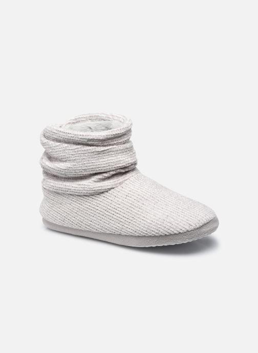 Pantoffels Sarenza Wear Chaussons montants velour femme Grijs detail