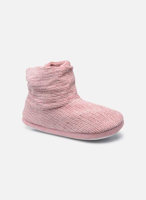 Pantoffels Sarenza Wear Chaussons montants velour femme Roze detail