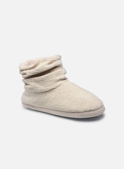 Pantoffels Sarenza Wear Chaussons montants velour femme Wit detail