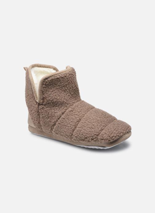 Pantoffels Sarenza Wear Chaussons montants mouton femme Bruin detail