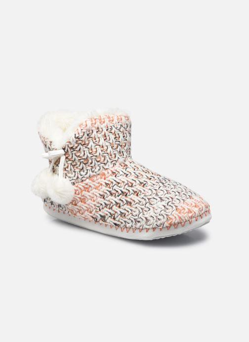 Pantoffels Sarenza Wear Chaussons montants pompons femme Oranje detail