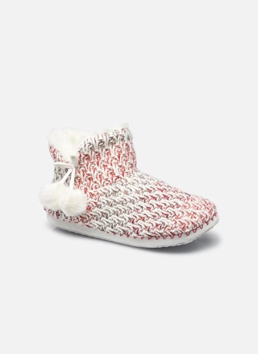 Pantuflas Mujer Chaussons montants pompons femme
