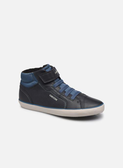 Baskets Geox J Gisly Boy J165CA Bleu vue détail/paire